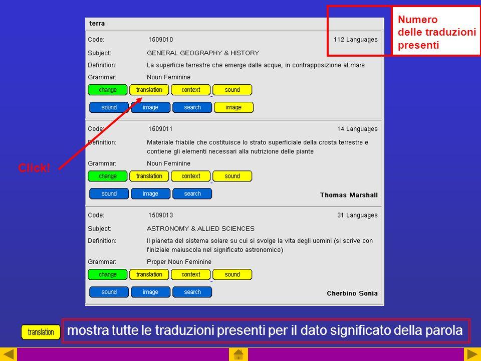 Numero delle traduzioni presenti mostra tutte le traduzioni presenti per il dato significato della parola Click!