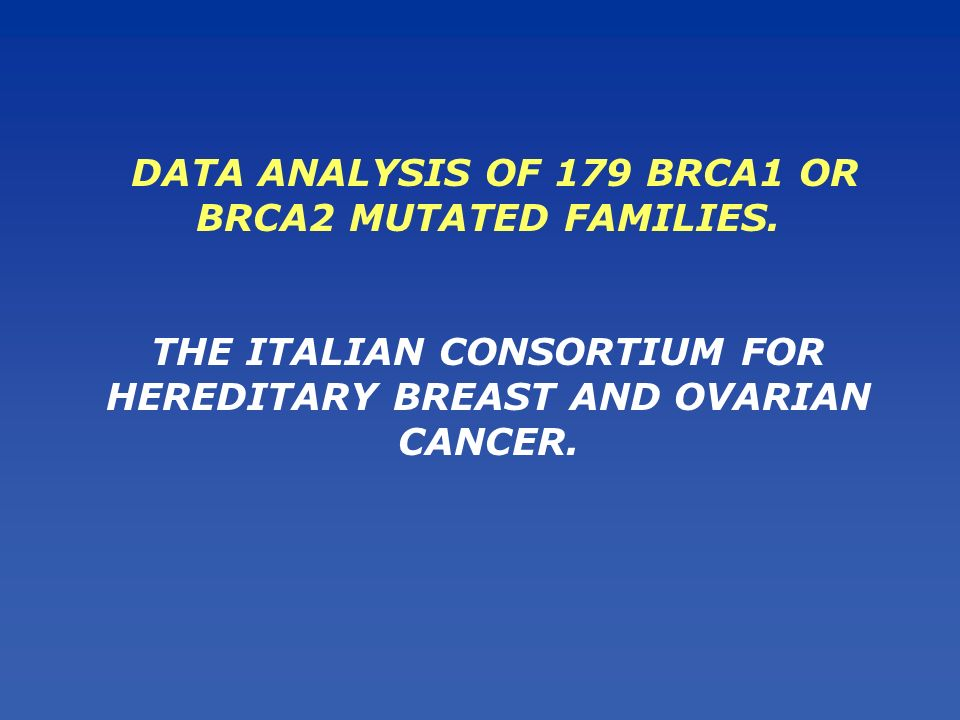 A relevant proportion of mutations occur in multiple independent families across Italy A substantial level of phenotypic heterogeneity exists between BRCA1- and BRCA2-mutated families A regressive model based on this heterogeneity is highly efficient in directing the mutational screening These are a critical step in the development of simple and less expensive diagnostic approaches to DNA analysis and facilitate carriers detection and genetic counseling CONCLUSIONS