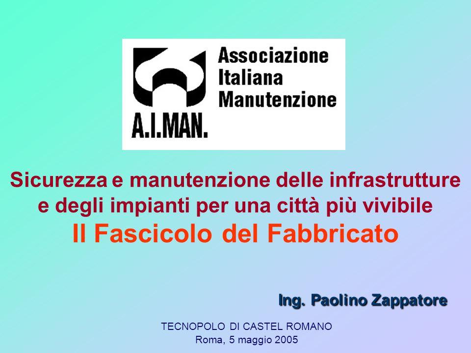 2 Una panoramica generale sugli edifici esistenti Il crolli di edifici in Italia Il Fascicolo del Fabbricato (FF): implicazioni Definizione di FF & Finalità Definizione di edificio Chi lo redige.