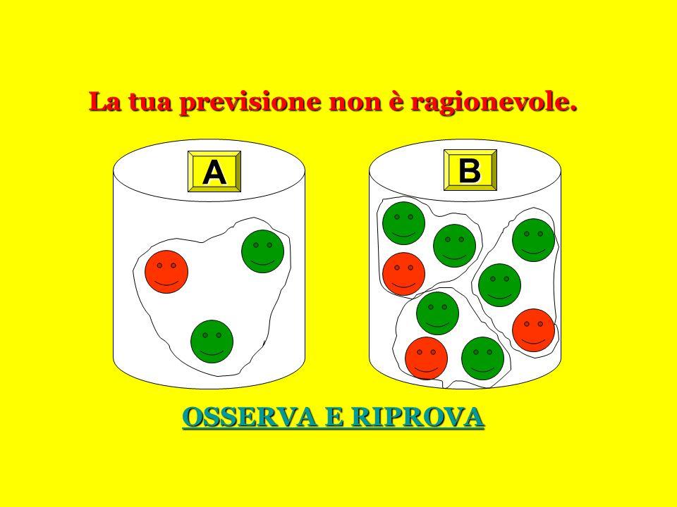 LE BIGLIE:Terzo gioco È più probabile estrarre una biglia rossa dallurna dallurna oppure cè la stessa probabilità per entrambe le urne? Fai la tua pre