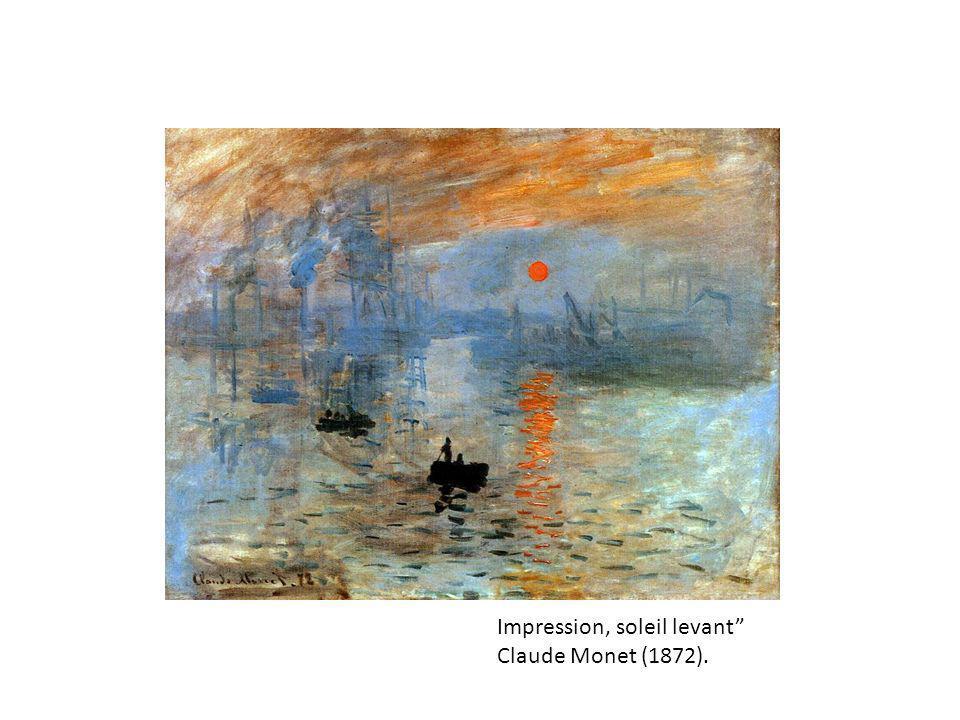 Impression, soleil levant Claude Monet (1872).