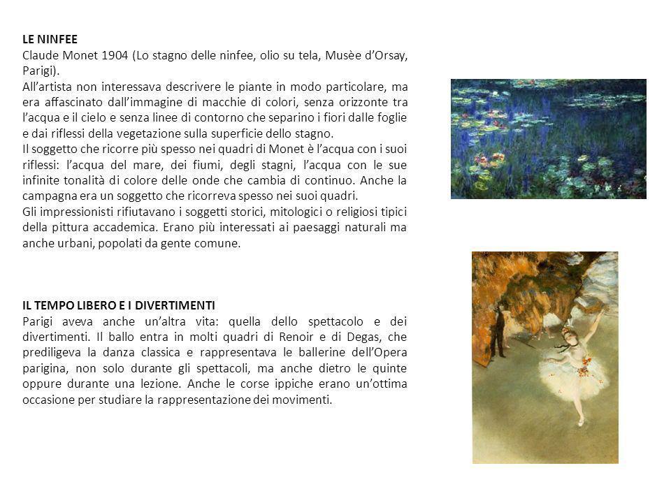 ...PARIGI E I LUOGHI DEGLI IMPRESSIONISTI......LA PITTURA EN PLAIN AIR E I LUOGHI… Il punto di forza della pittura impressionista è costituito dalla predilezione per la pittura en plain air, cioè pittura all aperto.