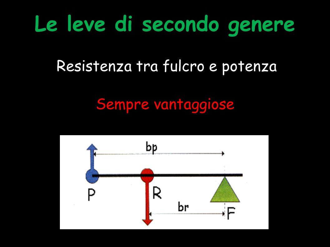 La leva di primo genere Fulcro tra i due bracci Svantaggiose, vantaggiose o indifferenti