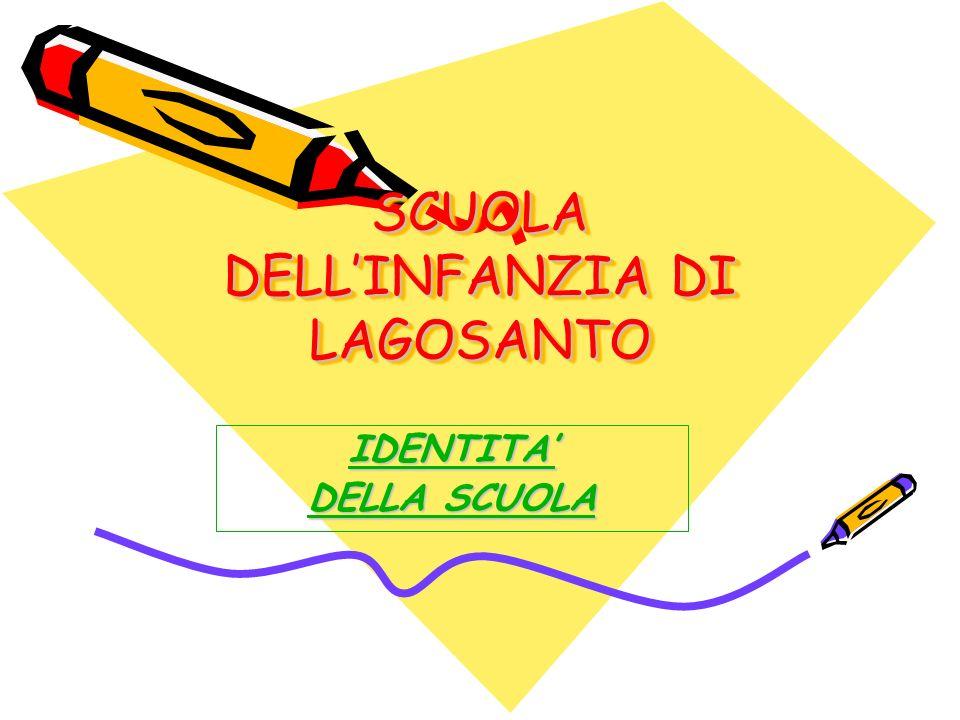 SCUOLA DELLINFANZIA DI LAGOSANTO SCUOLA DELLINFANZIA DI LAGOSANTO IDENTITA DELLA SCUOLA