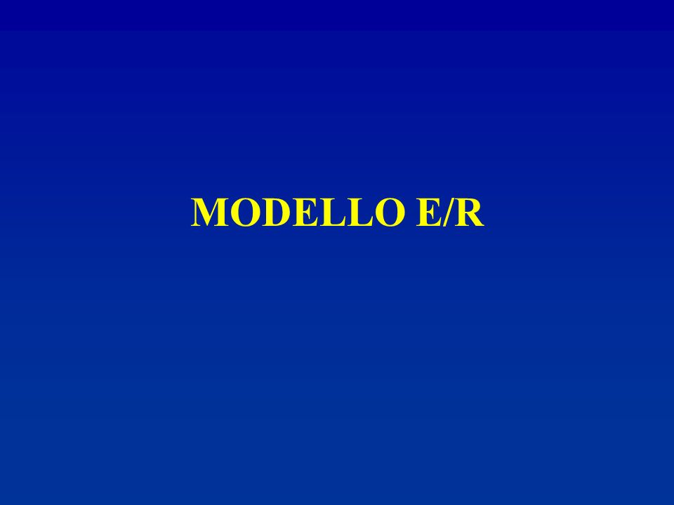 MODELLO E/R