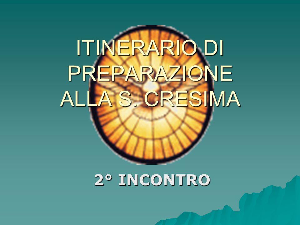 ITINERARIO DI PREPARAZIONE ALLA S. CRESIMA 2° INCONTRO