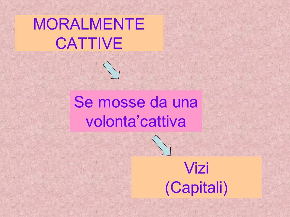 MORALMENTE CATTIVE Se mosse da una volontacattiva Vizi (Capitali)