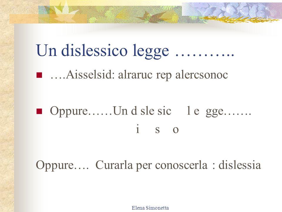 Elena Simonetta Le lettere……….