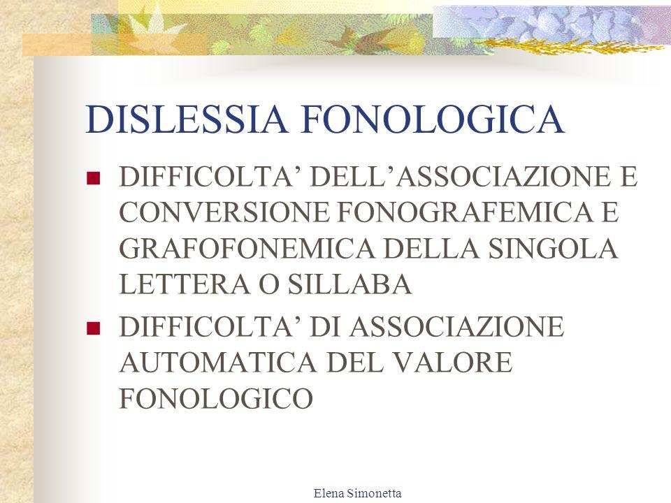 Elena Simonetta ASPETTI COMPROMESSI 1.FONETICO-FONOLOGICO 2.