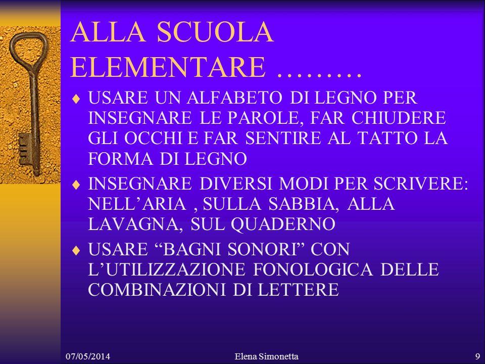 07/05/2014Elena Simonetta10 ALLA SCUOLA MEDIA…….