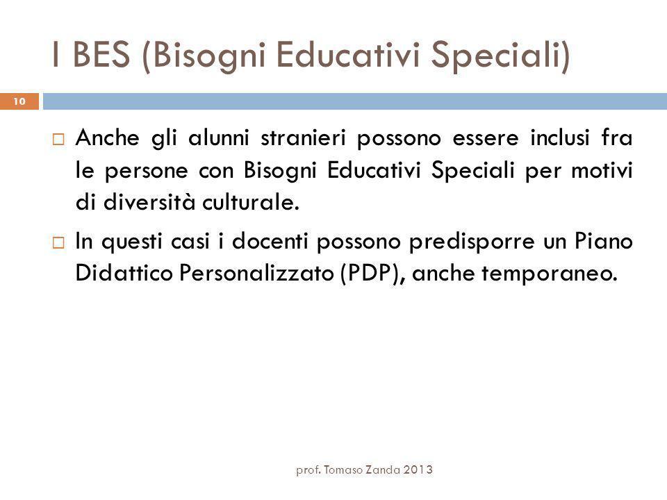 I BES (Bisogni Educativi Speciali) prof.