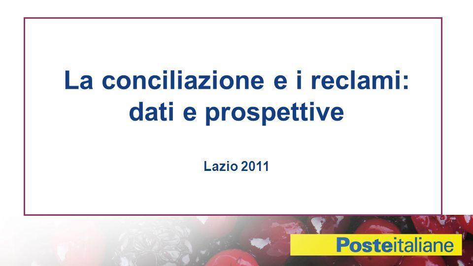 La conciliazione e i reclami: dati e prospettive Lazio 2011