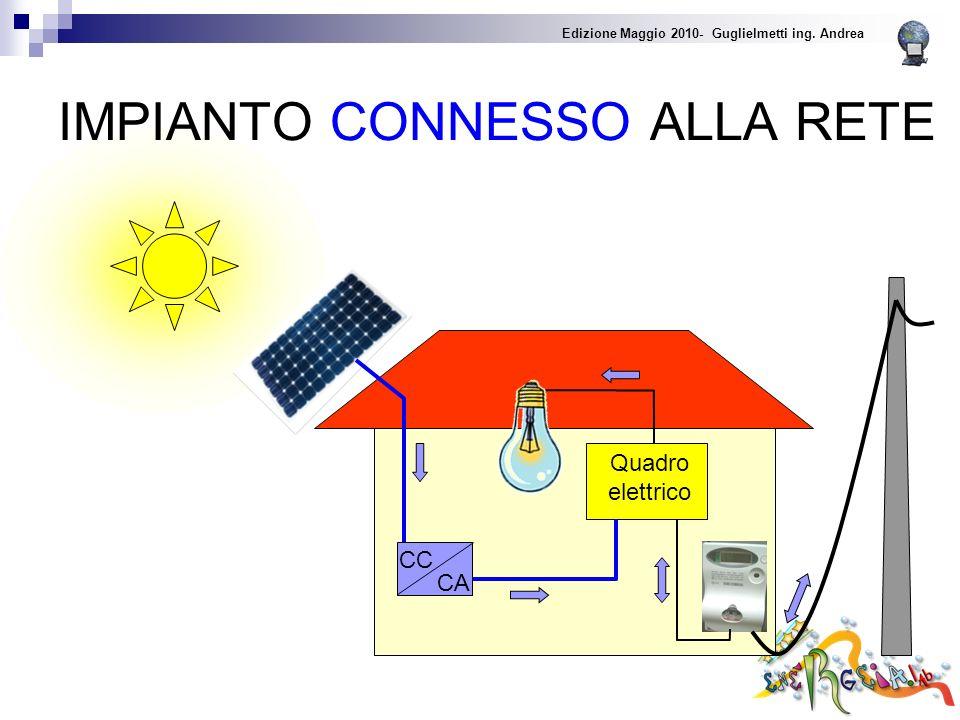 IMPIANTO CONNESSO ALLA RETE Edizione Maggio 2010- Guglielmetti ing. Andrea CA CC Quadro elettrico