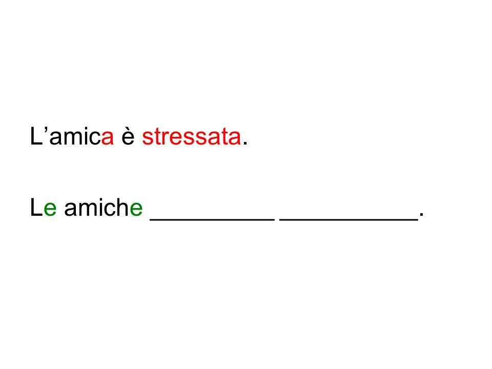Lamica è stressata. Le amiche _________ __________.