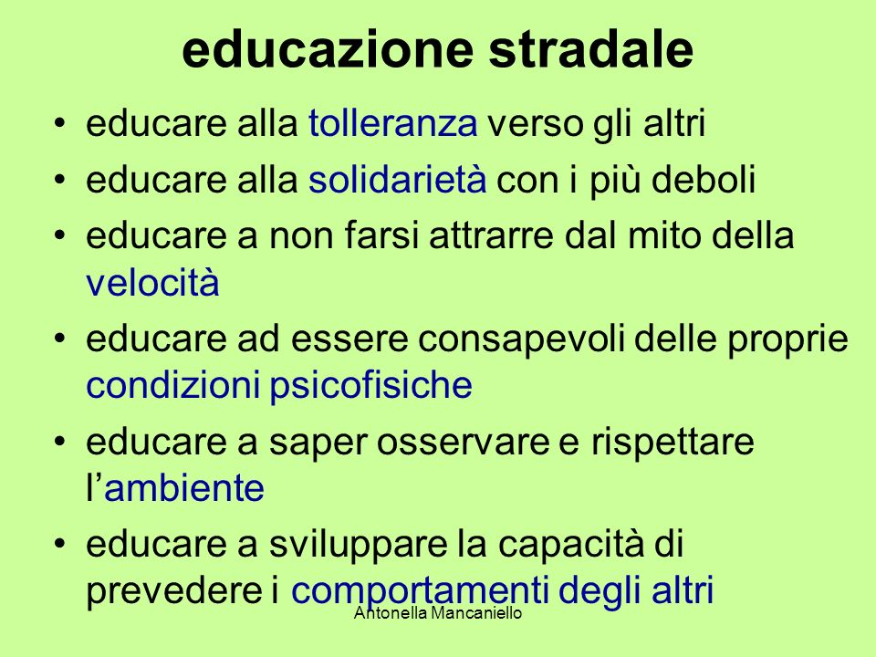 Antonella Mancaniello Legge Delega 22 Marzo 2001 N.