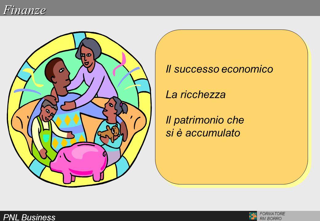 PNL Business FORMATORE RM BORRO Il successo economico La ricchezza Il patrimonio che si è accumulato Il successo economico La ricchezza Il patrimonio
