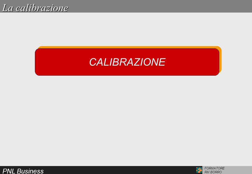 PNL Business FORMATORE RM BORRO CALIBRAZIONE La calibrazione
