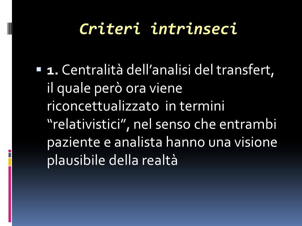 Criteri intrinseci 1.