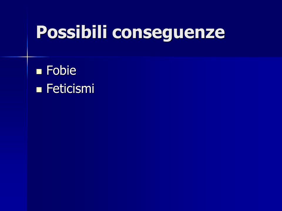 Possibili conseguenze Fobie Fobie Feticismi Feticismi