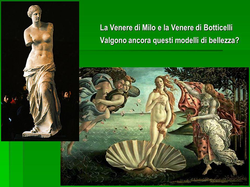 La Venere di Milo e la Venere di Botticelli Valgono ancora questi modelli di bellezza?