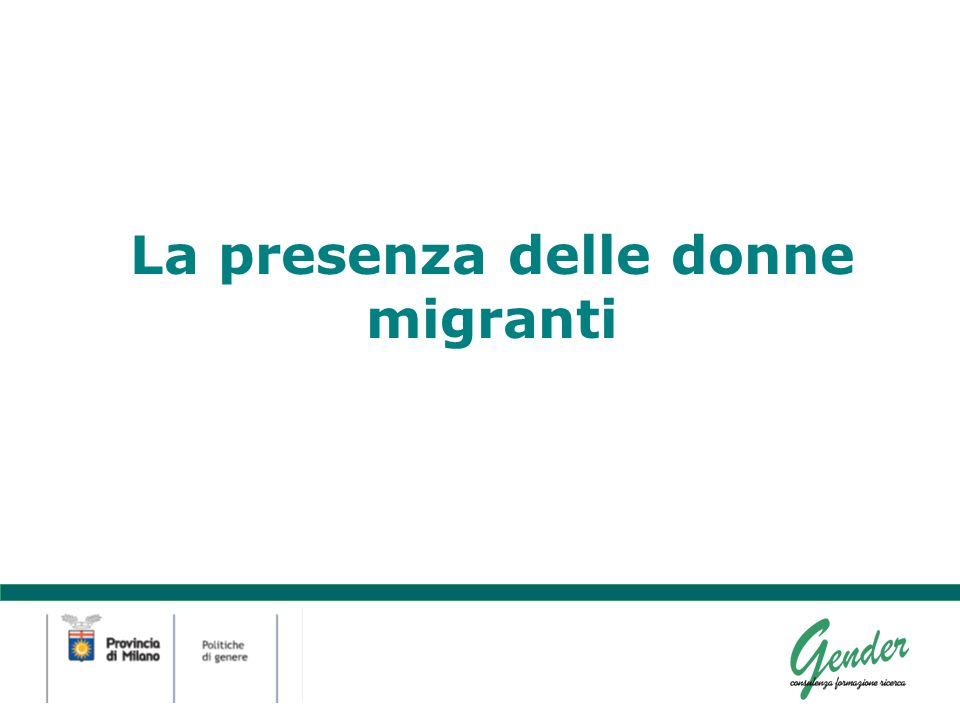La presenza delle donne migranti