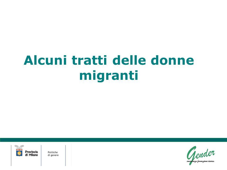 Alcuni tratti delle donne migranti