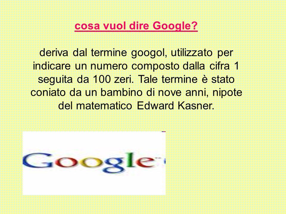 cosa vuol dire Google.