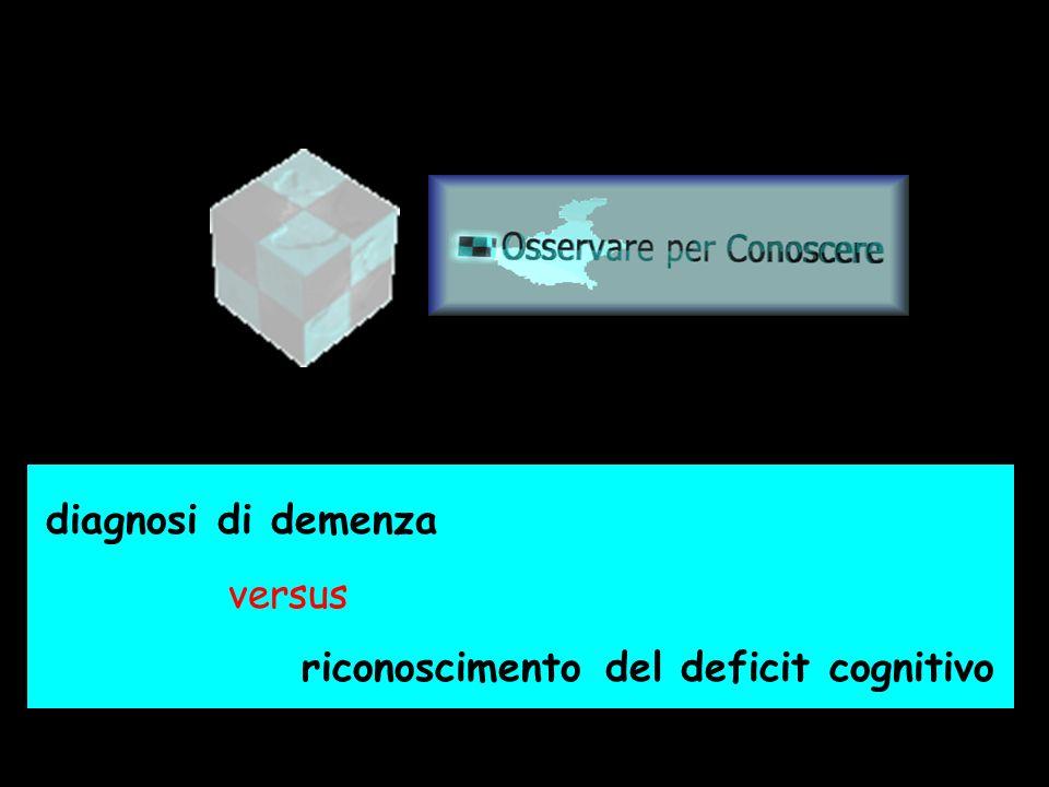 www.osservareperconoscere.it diagnosi di demenza versus riconoscimento del deficit cognitivo