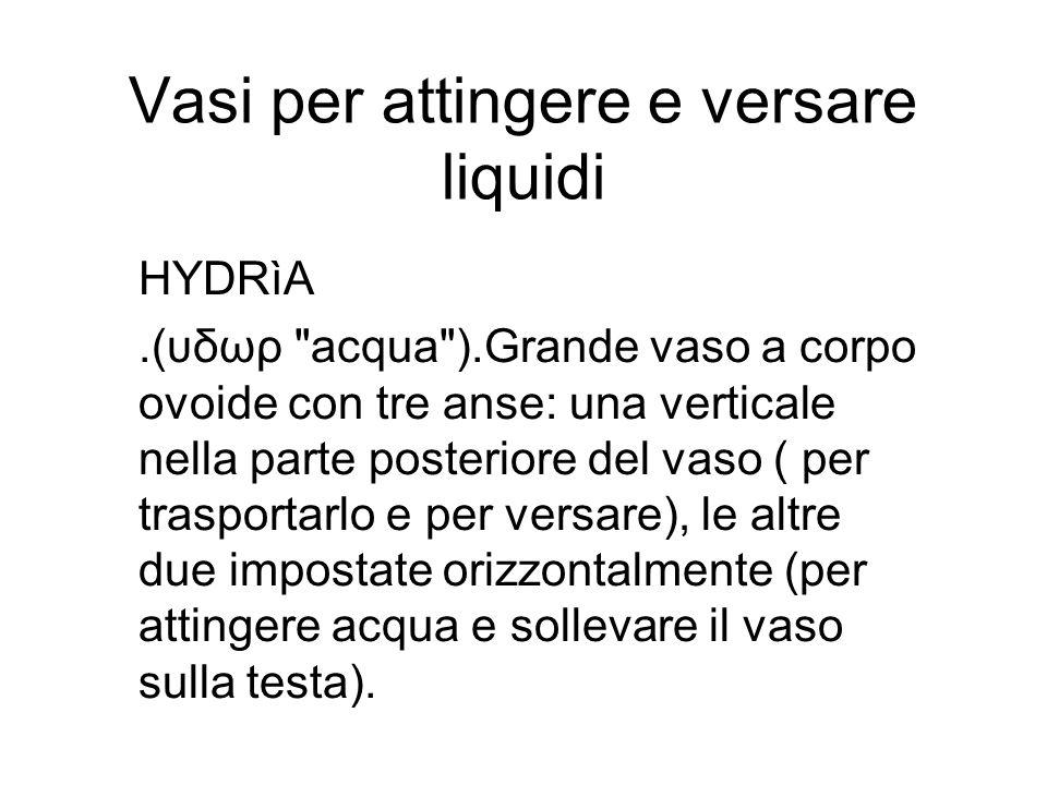 Vasi per attingere e versare liquidi HYDRìA.(υδωρ