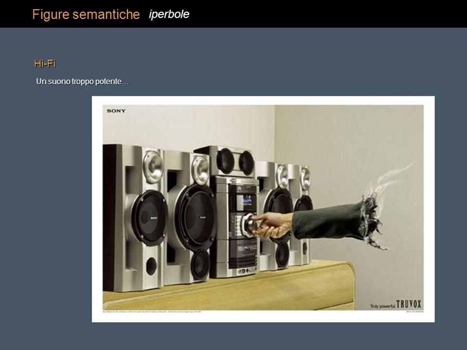 Figure semantiche iperbole Un suono troppo potente… Hi-Fi