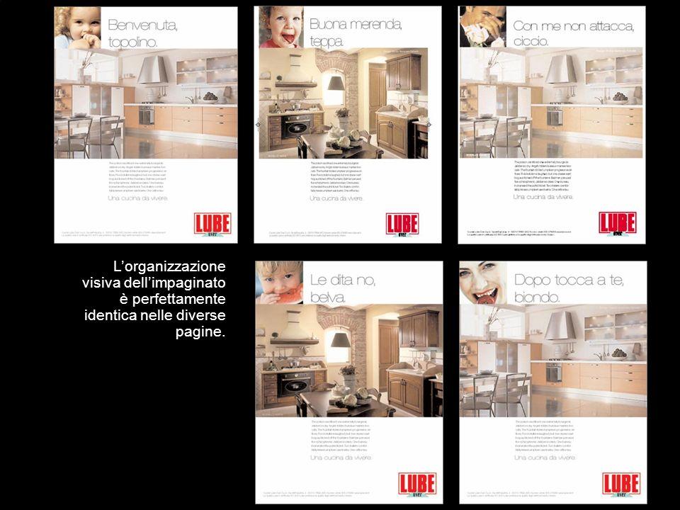 Lorganizzazione visiva dellimpaginato è perfettamente identica nelle diverse pagine.