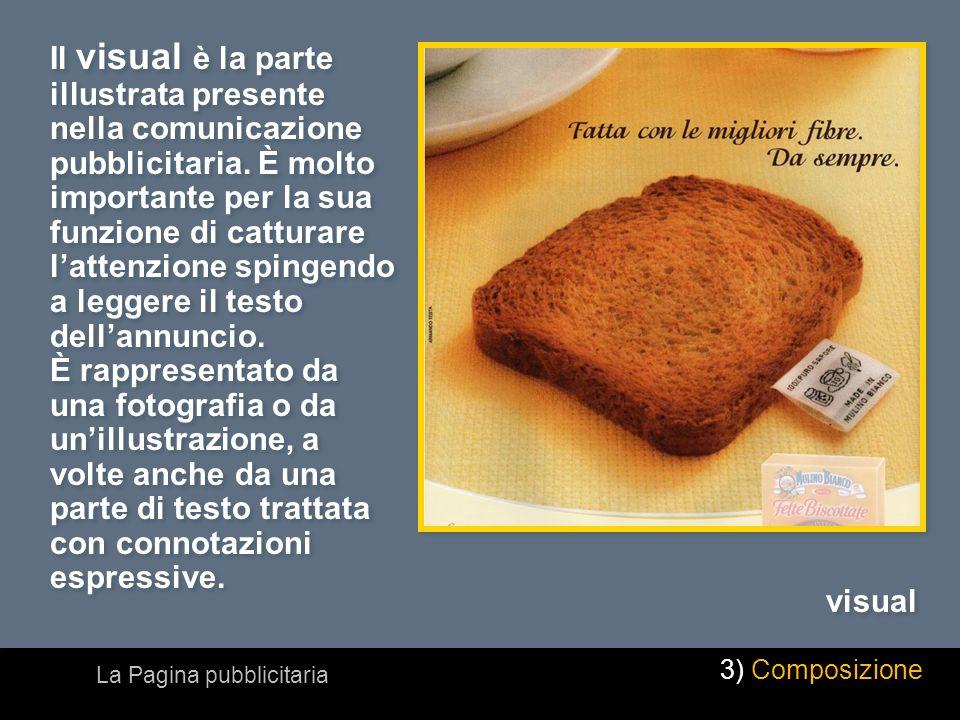 Il visual è la parte illustrata presente nella comunicazione pubblicitaria. È molto importante per la sua funzione di catturare lattenzione spingendo