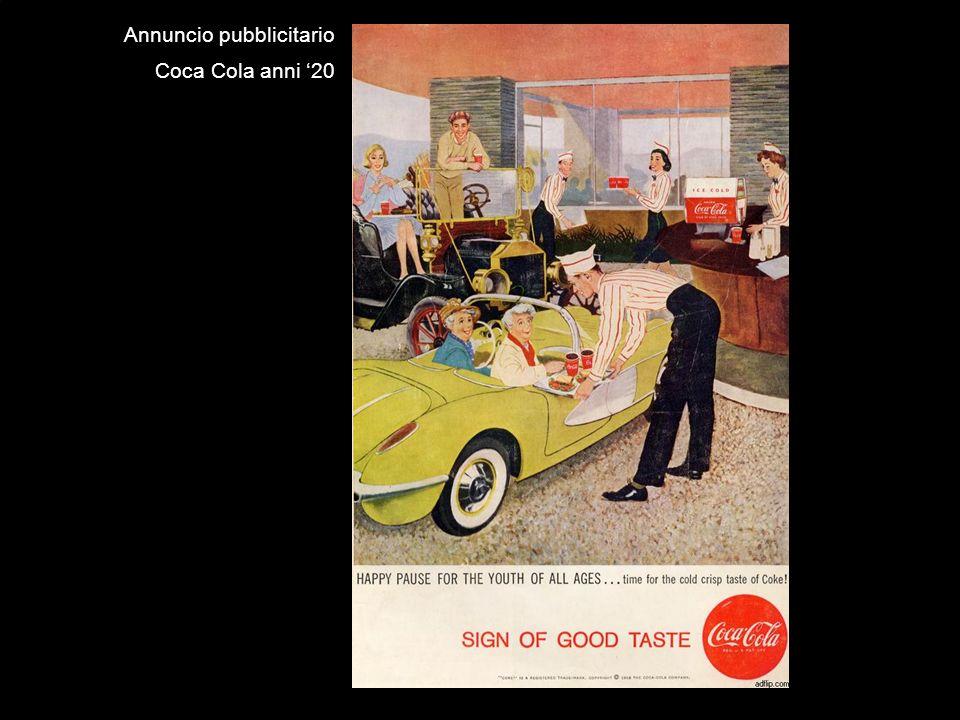 Annuncio pubblicitario Coca Cola anni 20