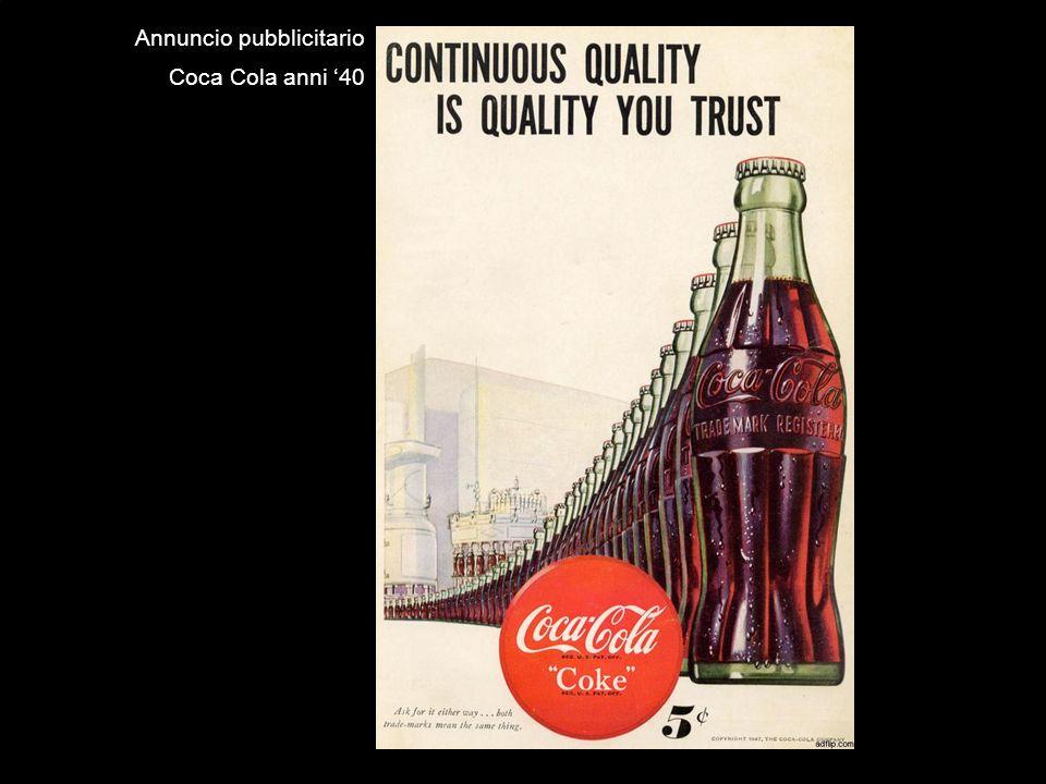 Annuncio pubblicitario Coca Cola anni 40