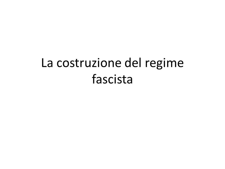 Il primo governo Mussolini Governo di coalizione Sostegno dei ceti imprenditoriali, agrari, gerarchie militari, burocrazia statale, corte e alto clero.
