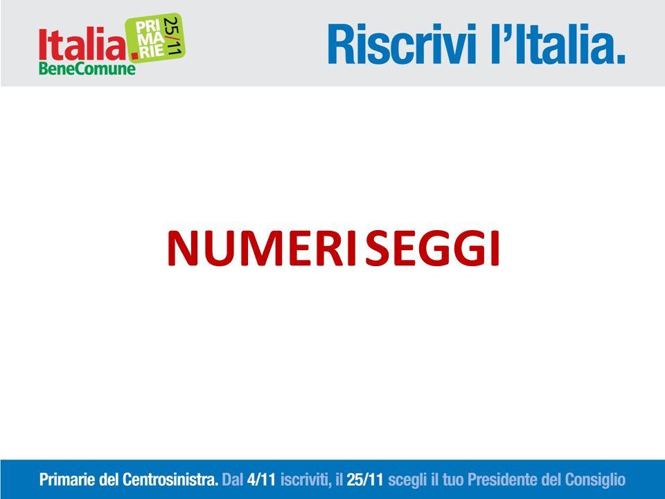 Numero Comuni coperti da seggi 92/92 Numero seggi 330 (Terni n.