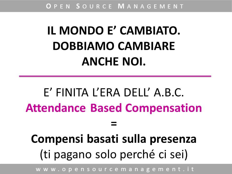 www.opensourcemanagement.it O PEN S OURCE M ANAGEMENT IL MONDO E CAMBIATO.