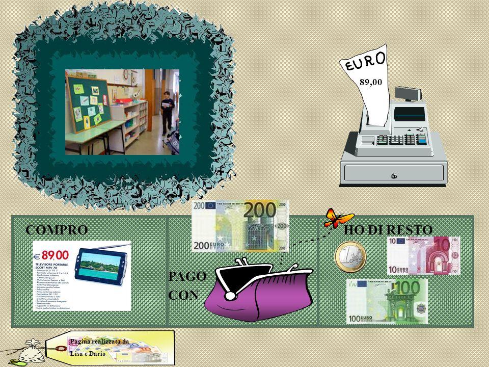 Lisa dario COMPROHO DI RESTO PAGO CON Pagina realizzata da Lisa e Dario 89,00
