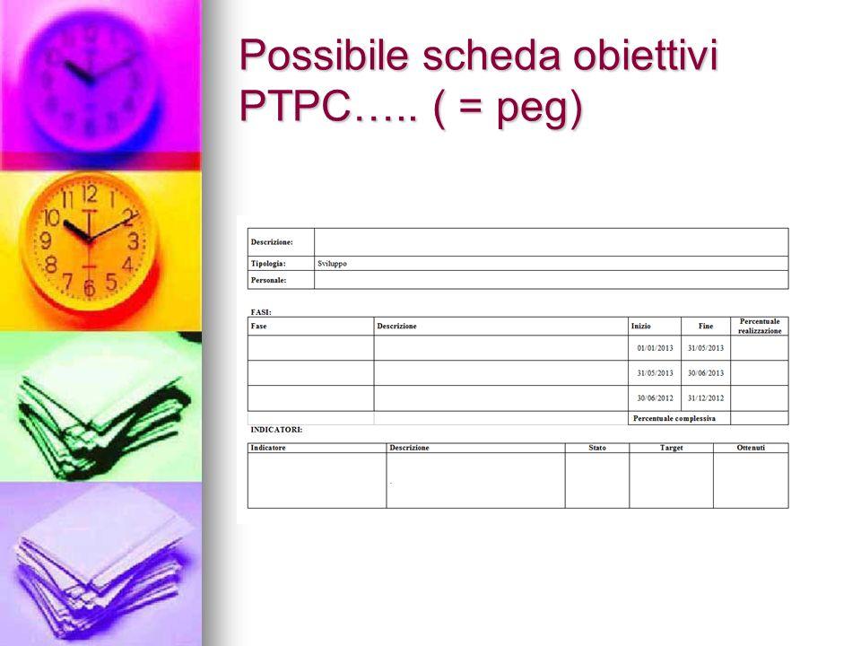 Possibile scheda obiettivi PTPC….. ( = peg)