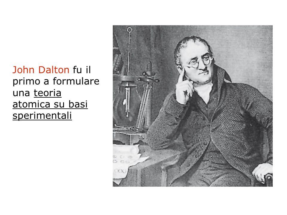 John Dalton fu il primo a formulare una teoria atomica su basi sperimentali