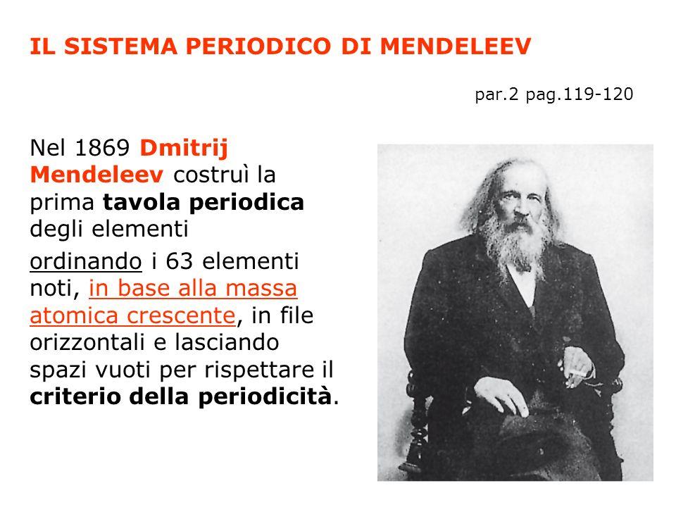 Nel 1871 pubblicò una versione aggiornata della tavola in cui gli elementi erano ordinati in dodici file orizzontali e otto verticali secondo la massa atomica crescente.