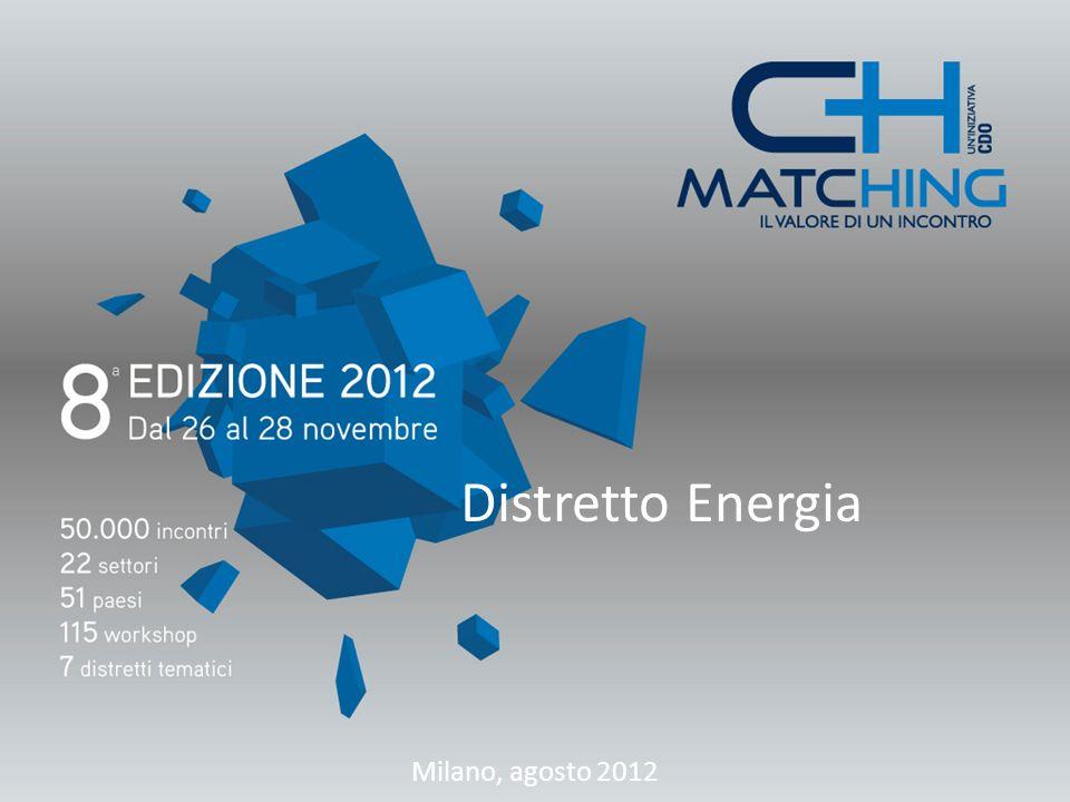 Distretto Energia Milano, agosto 2012