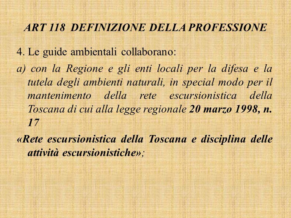 Art.119 REQUISITI E OBBLIGHI PER L ESERCIZIO DELL ATTIVITÀ 4.