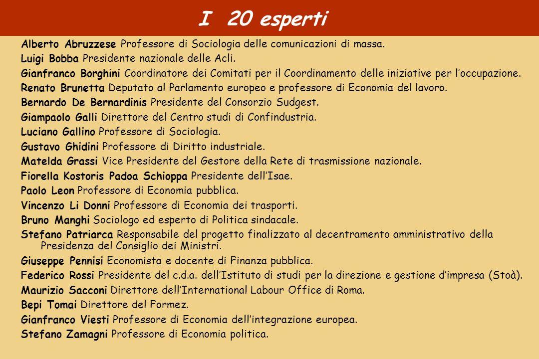 I 20 esperti Alberto Abruzzese Professore di Sociologia delle comunicazioni di massa.