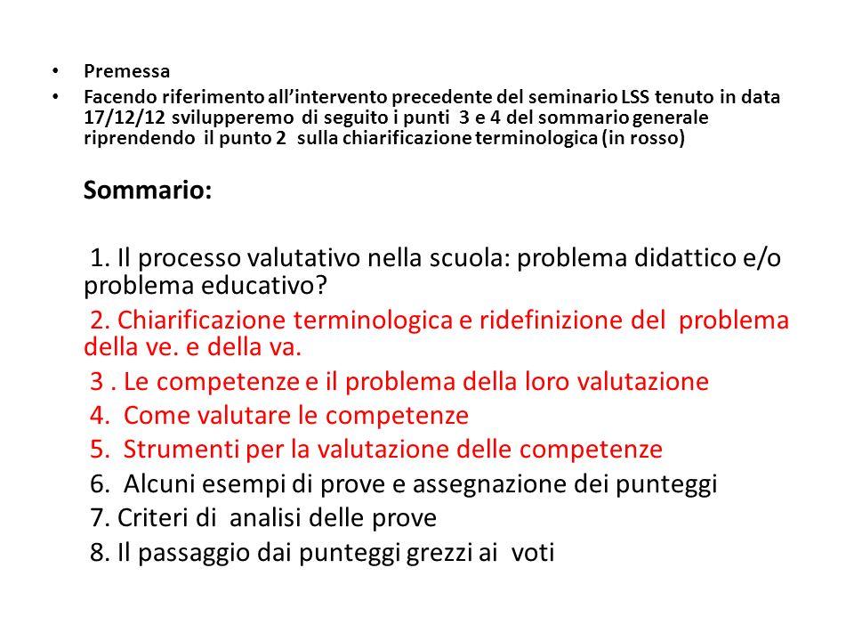 2.Chiarificazione terminologica e ridefinizione del problema della ve.