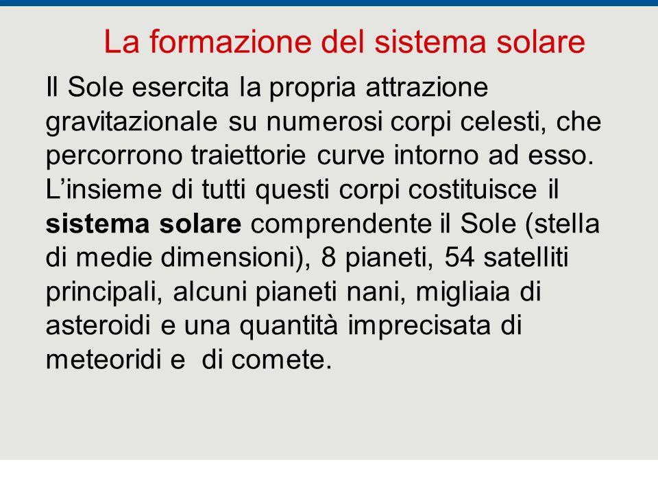 F. Fantini, S. Monesi, S. Piazzini - la Terra età 4,5 miliardi di anni - © Italo Bovolenta editore 2010 12 Il Sole esercita la propria attrazione grav