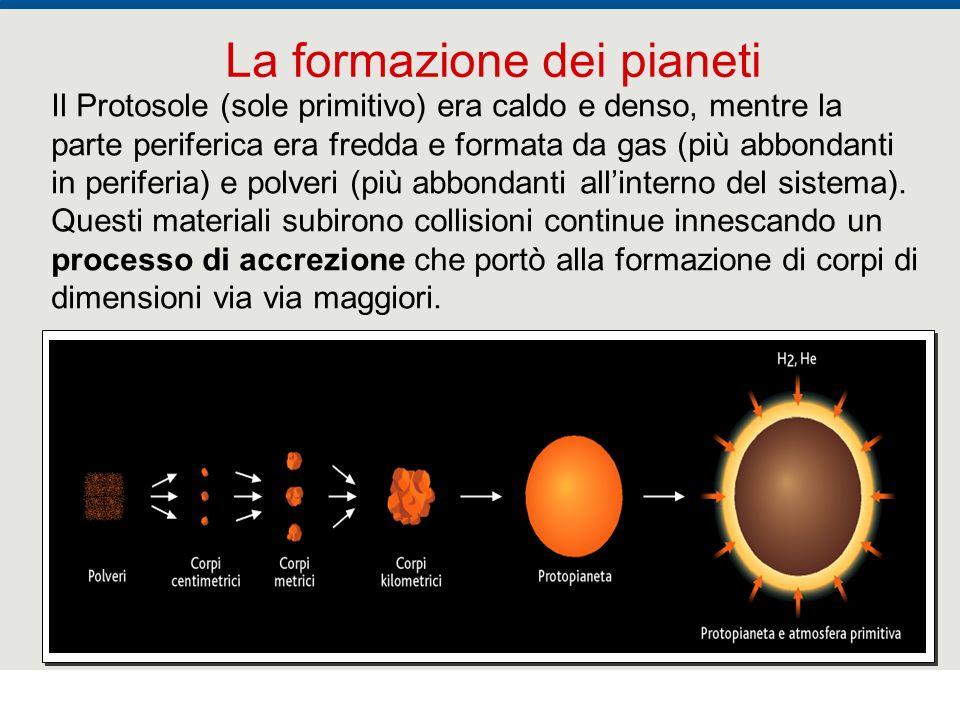 F. Fantini, S. Monesi, S. Piazzini - la Terra età 4,5 miliardi di anni - © Italo Bovolenta editore 2010 17 Il Protosole (sole primitivo) era caldo e d