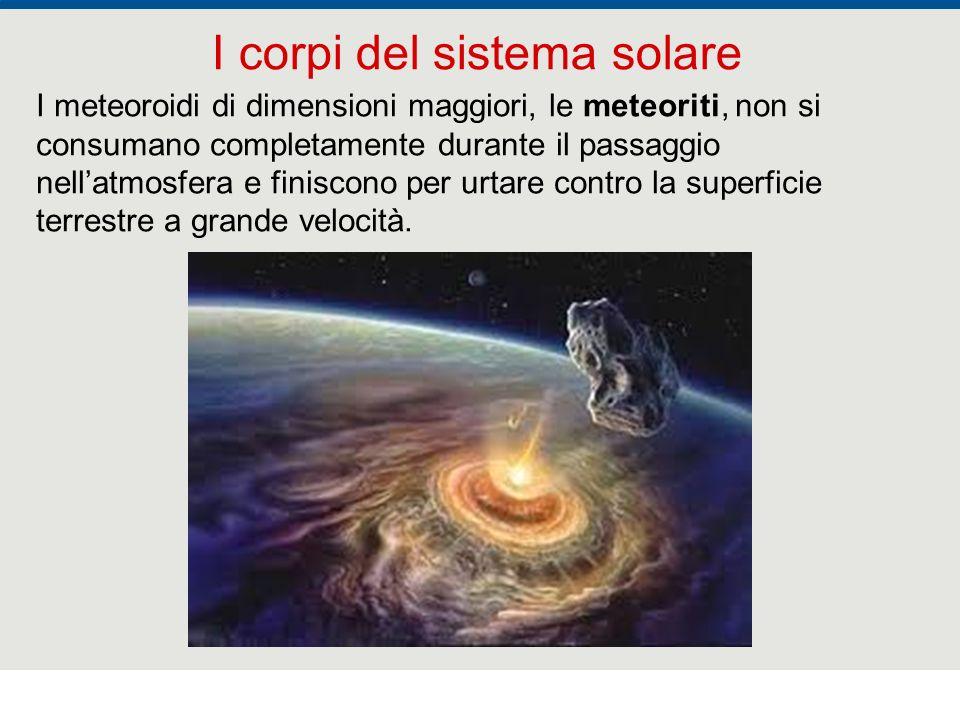 F. Fantini, S. Monesi, S. Piazzini - la Terra età 4,5 miliardi di anni - © Italo Bovolenta editore 2010 31 I corpi del sistema solare I meteoroidi di