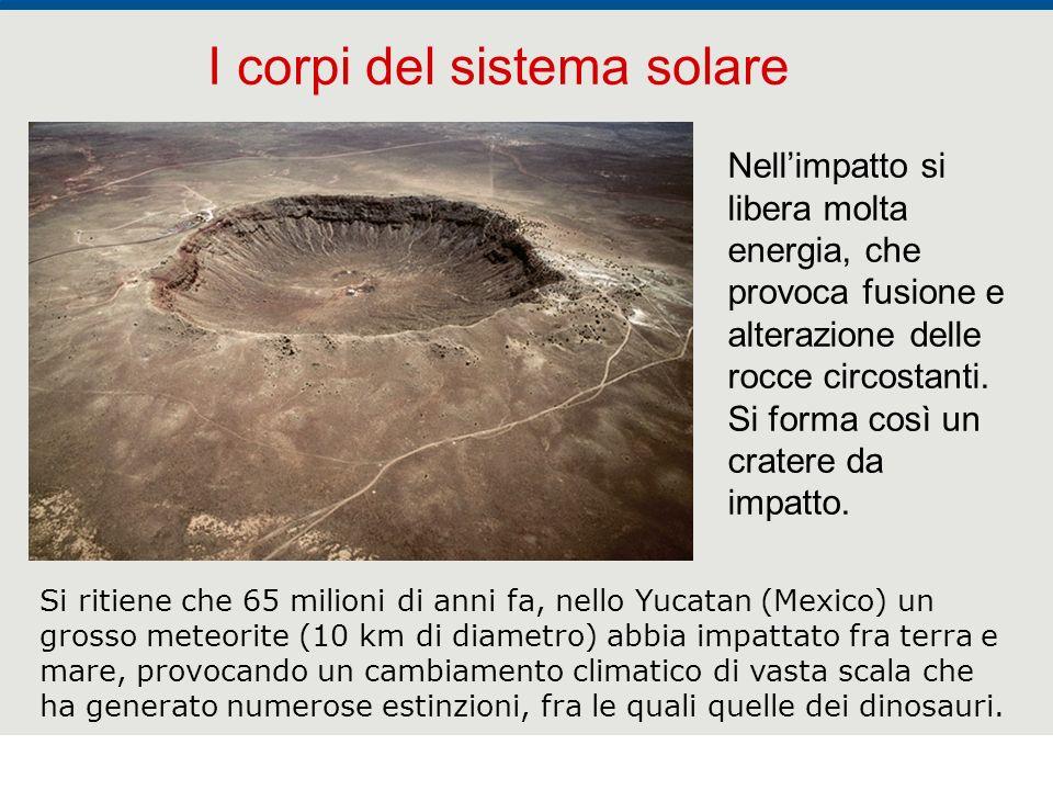 F. Fantini, S. Monesi, S. Piazzini - la Terra età 4,5 miliardi di anni - © Italo Bovolenta editore 2010 32 I corpi del sistema solare Nellimpatto si l