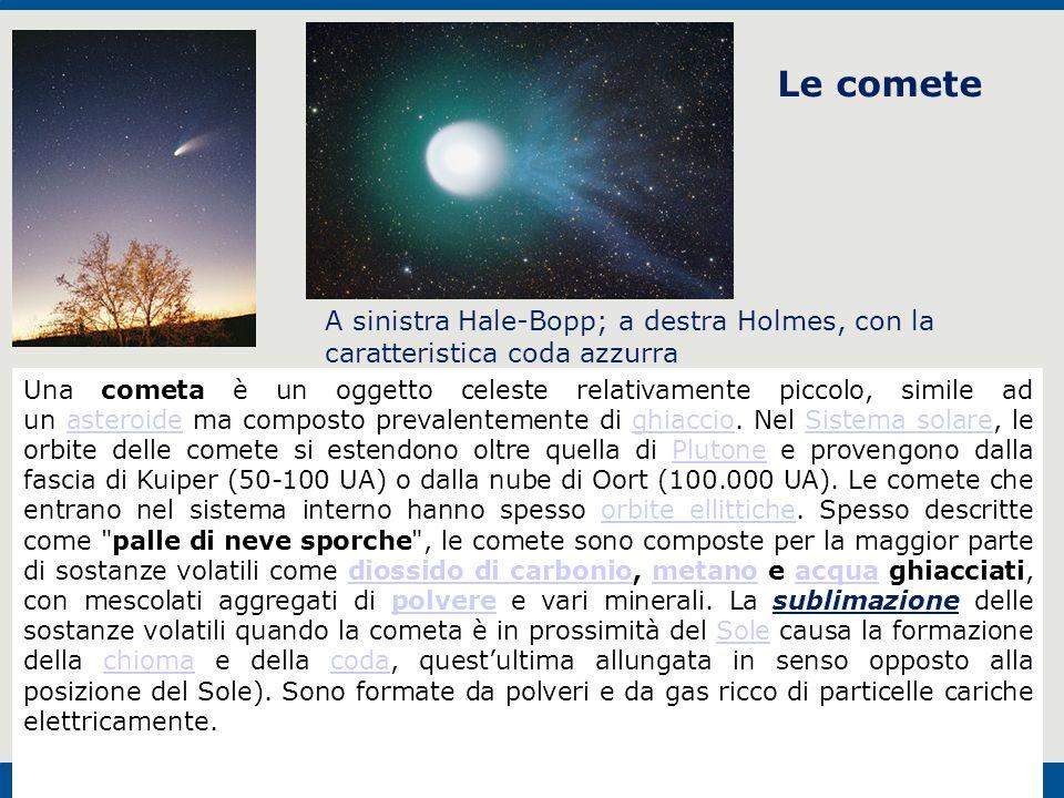 F. Fantini, S. Monesi, S. Piazzini - la Terra età 4,5 miliardi di anni - © Italo Bovolenta editore 2010 33 Le comete A sinistra Hale-Bopp; a destra Ho